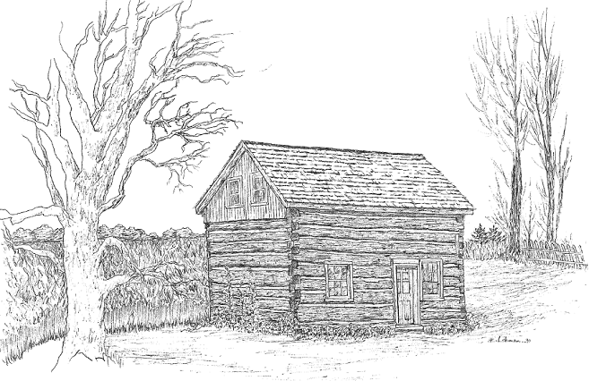 BandW Full Size Beaver House Drawing Wx426pxL