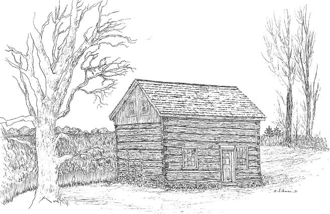 BandW Full Size Beaver House Drawing Wx426pxL