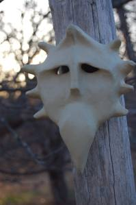 One of four Spirit Masks by Jane Longman - Copy